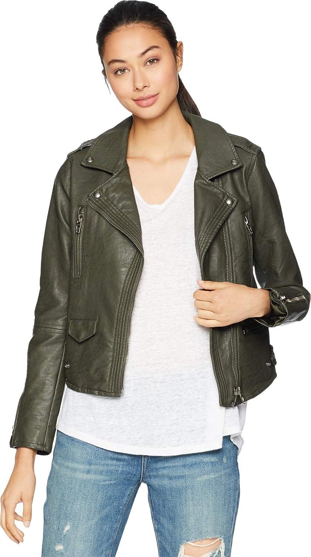 [BLANKNYC] Blank NYC Womens Vegan Leather Moto Jacket in Marry Jane