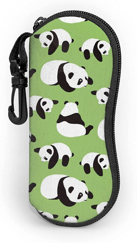 Cute Panda Special sale item On Ranking TOP5 Green Sunglasses Soft Reindeer Horn Ey Zipper Case