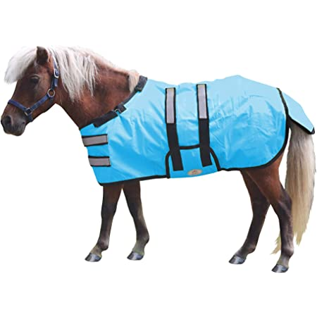 MOCOHANA Waterproof Medium Weight Mini Horse Pony Turnout Blanket Ripstop Oxford Weight 220g Poly Fill