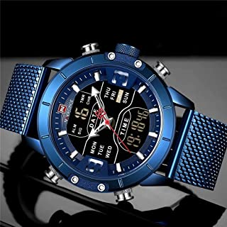 Naviforce Casual Watch For Men Analog-Digital Stainless Steel - NF9153