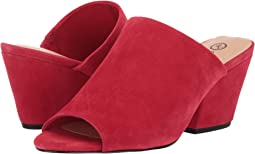 Red Kid Suede Leather