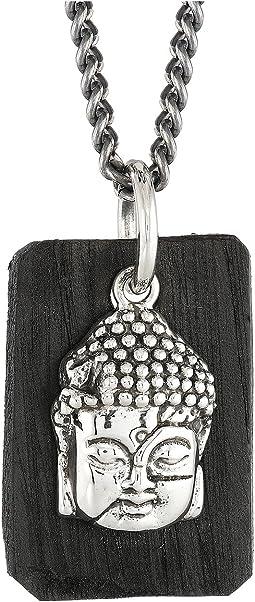 King Baby Studio - Meditating Buddha Pendant Necklace w/ Leather Tag