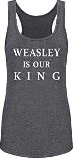 GROWYI Funny Workout Tank Tops Racerback for Women Weasley is Our King Homor Saying Movie Fitness Gym Sleeveless Shirts