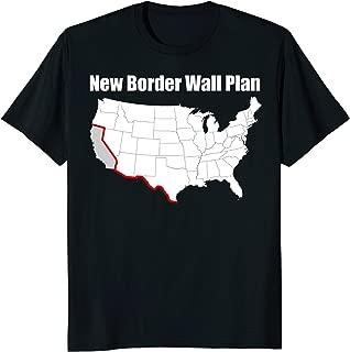 Funny Border Wall T-Shirt Funny Anti-Liberal T-Shirt