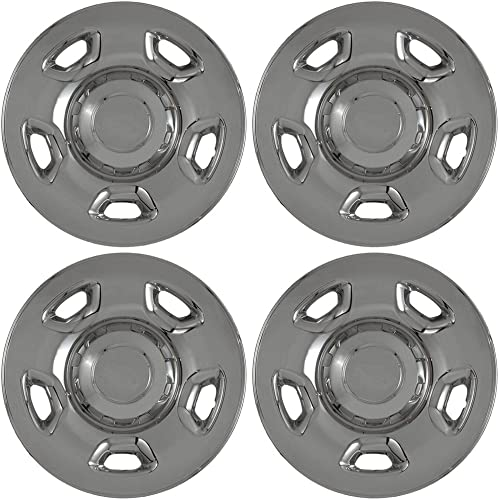17 inch Hubcap Wheel Skins for 2004-2010 Ford F150-(Set of 4) Wheel Covers- Car Accessories for 17inch Chrome Wheels- Auto Tire Replacement Exterior Cap Cover