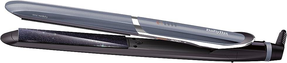 BaByliss IPro Slim ST387E – Plancha de pelo iónica, placas profesionales de cerámica para cabello húmedo y seco, calentamiento instantáneo, 6 temperaturas 140º - 235º