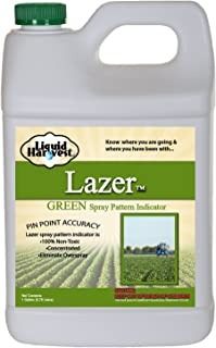 Liquid Harvest Lazer Green Concentrated Spray Pattern Indicator - 1 Gallon (128 Ounces) - Perfect Weed Spray Dye, Herbicide Dye, Fertilizer Marking Dye, Turf Marker and Herbicide Marker