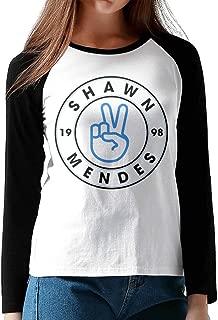 CuteBee Shawn Mendes Women's Long Sleeve Raglan Shirt Black