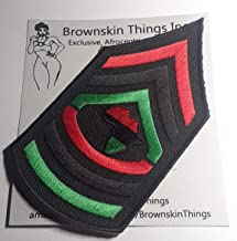 Afrocentric Patches Embroidery Iron On DIY Black Gye Nyame Patch Adinkra Symbol Except God 3.25x3.00