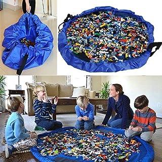 おもちゃ収納袋 プレイマット マット 自宅 & 外遊び 雑貨 おもちゃ プロック 積み木 片付け上手 防水素材 折り畳みで便利 収納用品