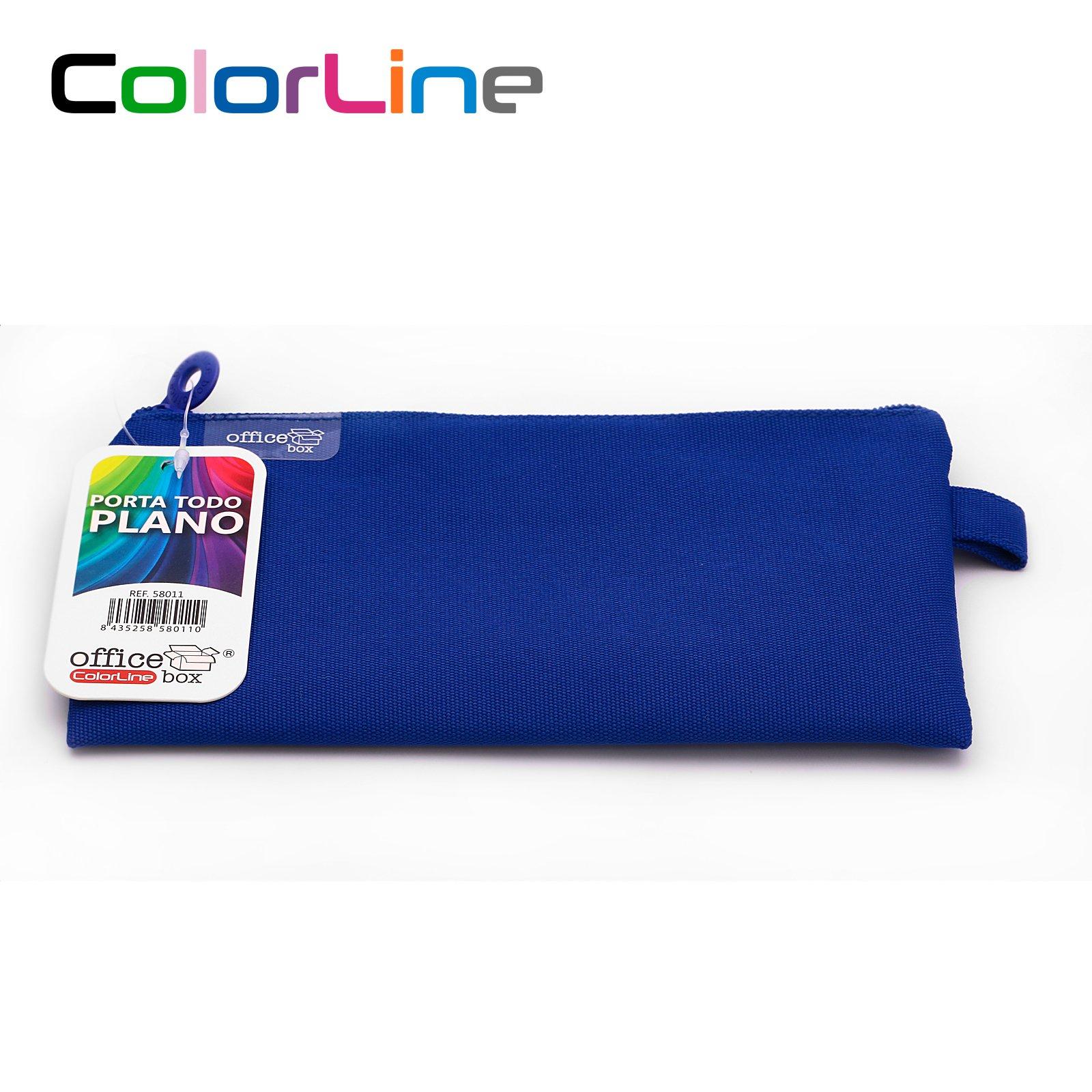 Colorline 58011 - Portatodo Plano Rectangular, Estuche Multiuso para Viaje, Material Escolar, Neceser y Accesorios. Color Fucsia, Medidas 22 x 11 cm: Amazon.es: Oficina y papelería