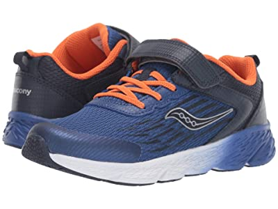 Saucony Kids Wind A/C (Little Kid/Big Kid) (Navy) Boys Shoes