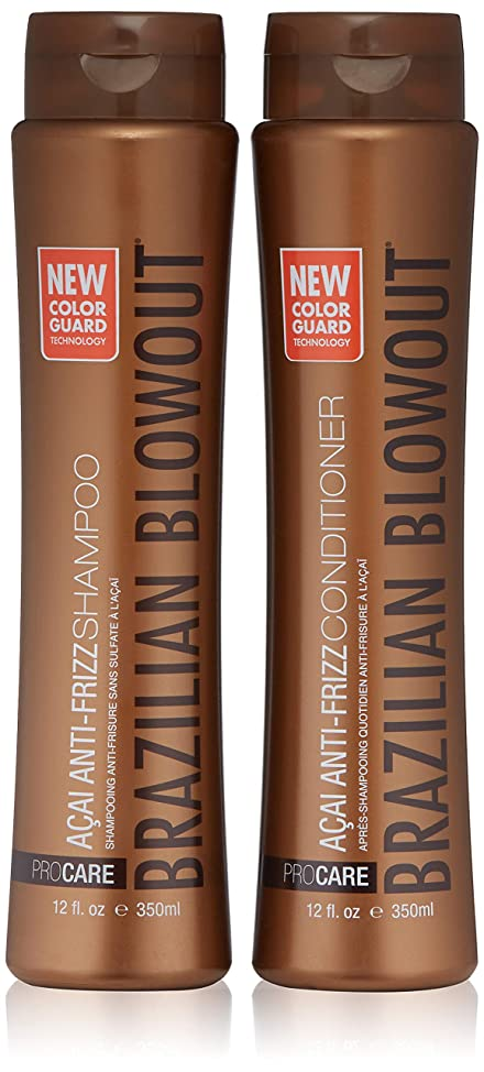 Brazilian Blowout Shampoo and conditioner, 12 Fl Oz, Pack of 2 tzxsklko840