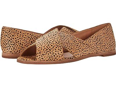 Madewell Ava Peep-Toe Flat in Spot Dot (Tigers Eye) Women