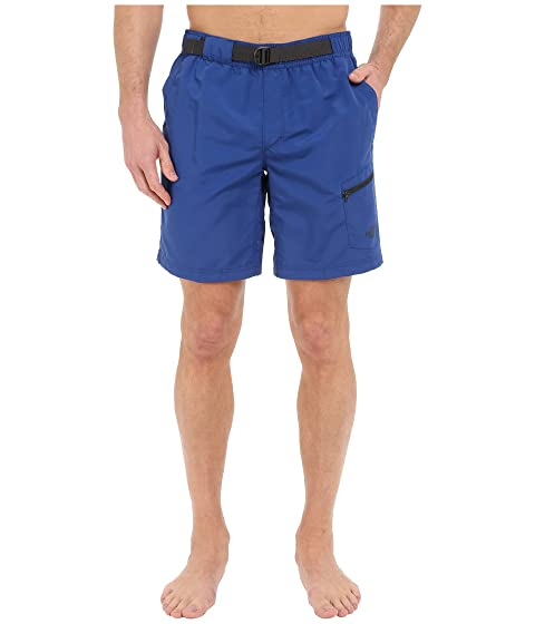 Temporada Limoges La North guía Blue Belted Face anterior Trunks qX01Fw