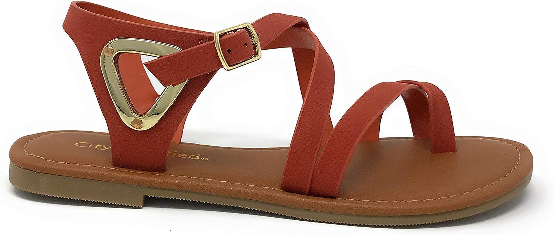 City Classified Comfort Ankle Wrap Strap Sandal Buckle
