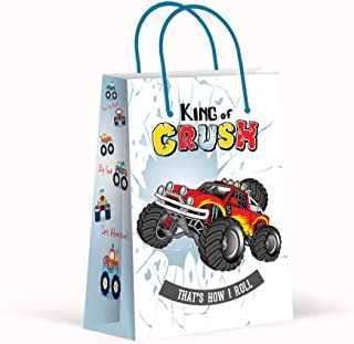Premium Monster Truck Party Bags, Party Favor Bags, New, Treat Bags, Gift Bags, Goody Bags, Party Favors, Party Supplies, Decorations, 12 Pack
