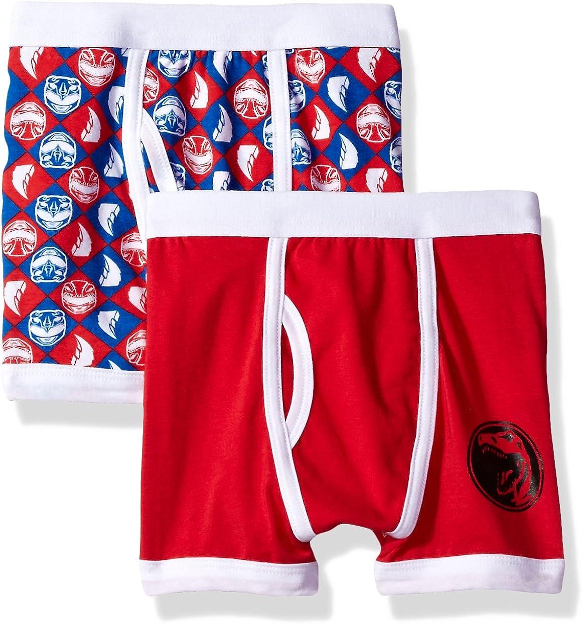 Power Rangers boys Red 2 Underwear Award-winning store Ranger San Diego Mall Pack