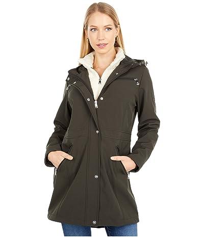 LAUREN Ralph Lauren Softshell w/ Berber Vest (Olive) Women