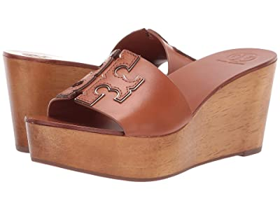 Tory Burch 80 mm Ines Wedge Slide (Tan/Spark Gold) Women