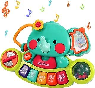 Zooawa Multifunctional Musical Elephant Keyboard Piano Toy,