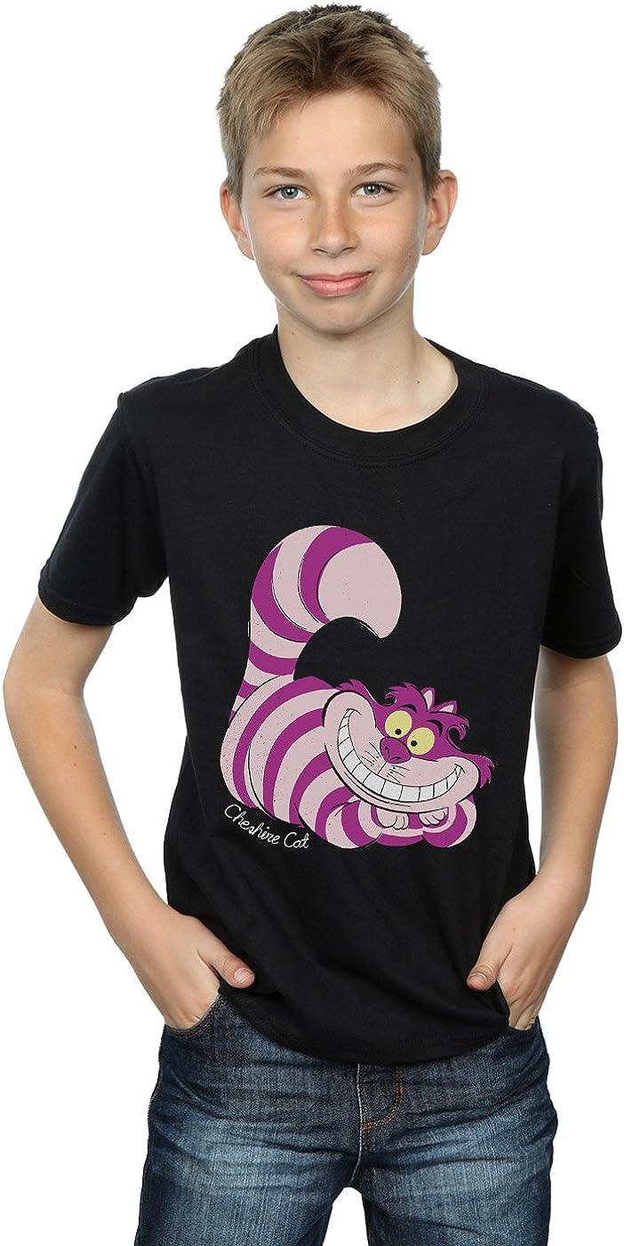 Disney Boys Alice in Wonderland Cheshire Cat T-Shirt 12-13 Years Black