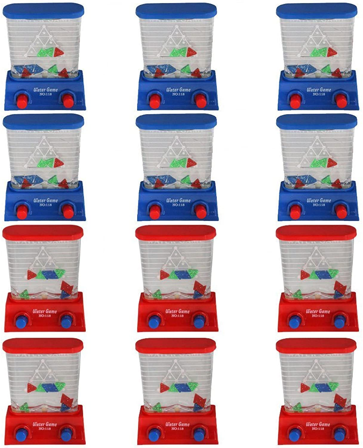12 Pieces Kids Party Favor 3.5  Handheld Triangle Water GameDozenBonus Race Day Car