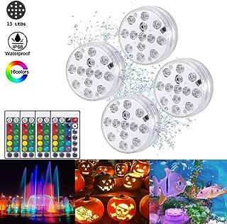 piscina base florero paquete de 24 Luces LED sumergibles HL Mini candelita RGB resistente al agua multicolor con control remoto que dura 24 horas para la fiesta de Navidad jard/ín estanque