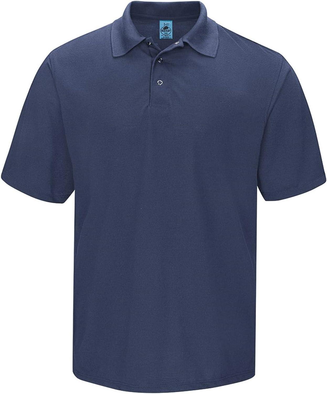 Red Kap Men's Big Short Sleeve, Gripper-Front Polo Shirt, Navy, 3X-Large