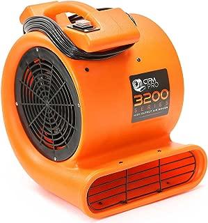 CFM PRO Air Mover Carpet Floor Dryer 2 Speed 1/2 HP Blower Fan - Orange Industrial Water Flood Damage Restoration