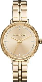 Michael Kors Bridgette Stainless Steel Watch With Glitz Accents
