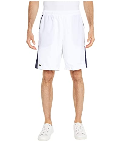 Lacoste Jersey Lined Shorts (White/Navy Blue/Navy Blue) Men