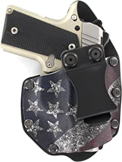 Infused Kydex USA: Slanted Flag IWB NT Hybrid Kydex & Leather Holster for Kimber Micro 9mm - Inside the Waistband