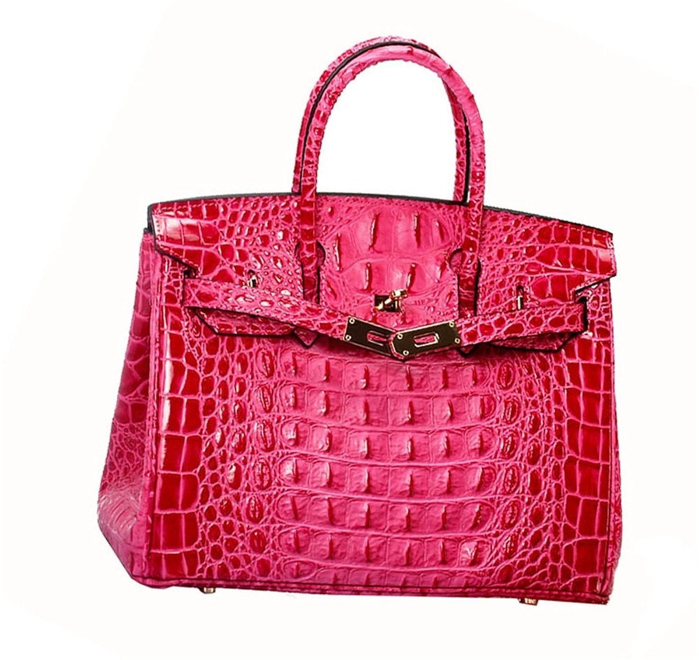 女性のハンドバッグシンプルワイルドレザートートバッグ通勤のハンドバッグショルダーバッグファッション クロスボディバッグガールズメッセンジャーバッグ (色 : ローズ)