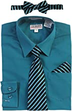 teal shirt with tie