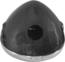 Emgo Lucas Style 7in. Side Mount Headlight Shells - Carbon 66-65069