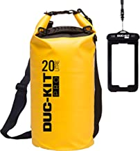 Duc-Kit Pro Waterproof Dry Bag + Smart Phone IPX8 Case, 2 Adjustable Shoulder Straps as Standard. Ideal for Kayaking, Canoeing, Diving, Fishing, Boating, Swimming, Camping, Skiing.