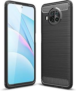 لهاتف Xiaomi Mi 10T lite / Redmi note 9 Pro 5G جراب ارمور كربون بملمس ألياف الكربون المصقولة مصنوع من مادة TPU - أسود