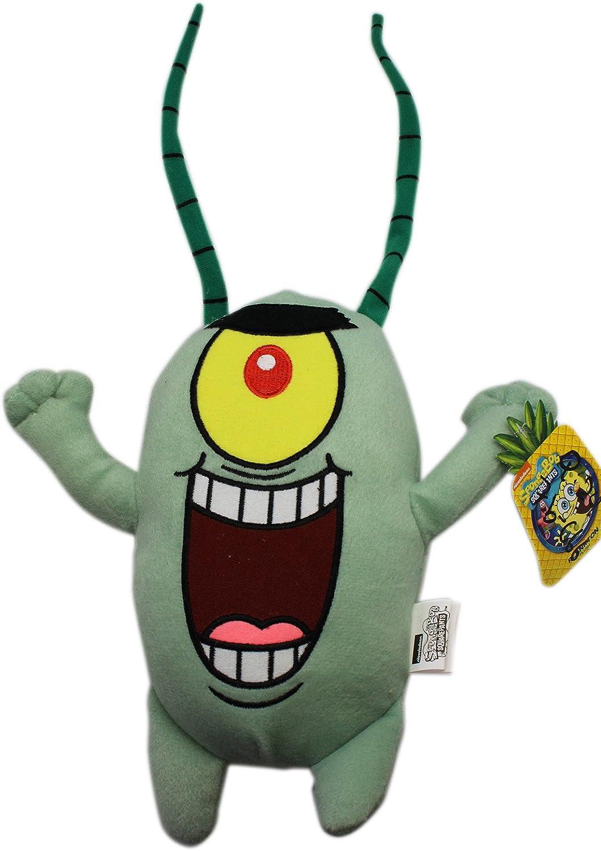 10.5 Inch Spongebob Squarepants Plankton Plush Doll