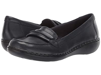 Clarks Ashland Lily (Navy Leather) Women
