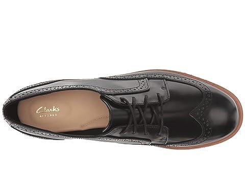 en Hyper Leatherblack Maira Teadale Clarks Brillant ligne Cuir Aubergine Sx4gF