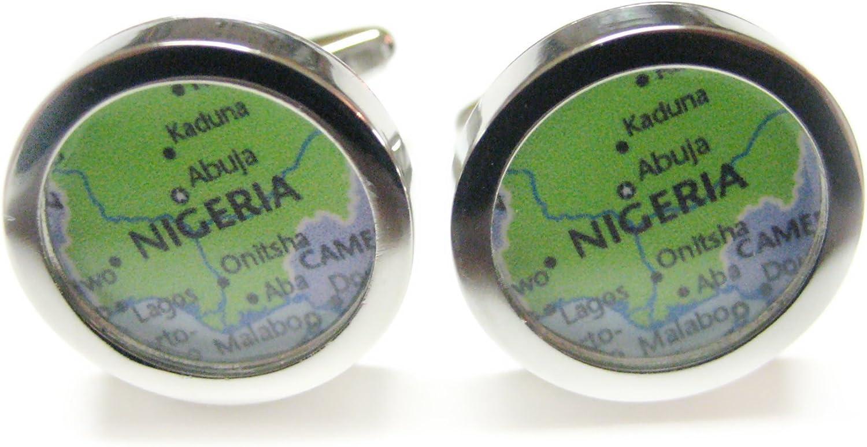 Nigeria Map Cufflinks