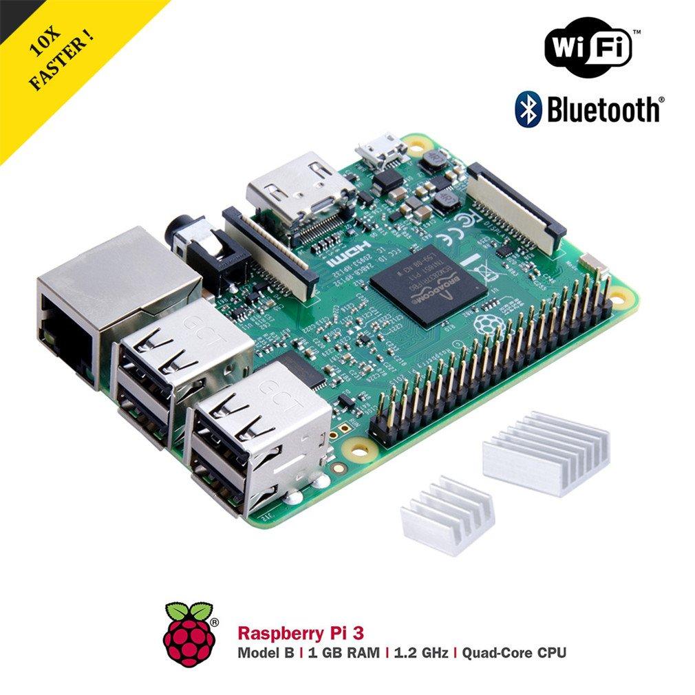 Raspberry Pi 3 Modelo B Starter Kit Desktop con Caja Transparente ...