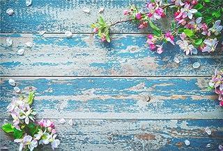 EdCott - Rama de flores de 5 x 3 pies, tabla de madera antigua, fondo plano, vintage, peeling off, fondo de madera, fondo de fotografía, tabla de madera dura