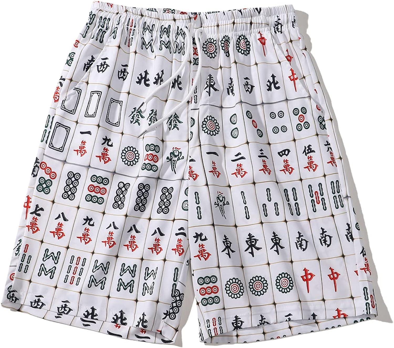 Wantess Men's Hawaii Beach Shorts Summer Fashion Personality Printed Casual Vacation