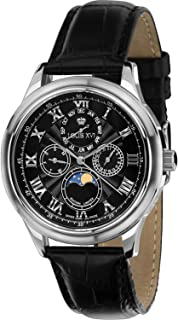 Louis XVI Women's-Watch Élysée l'argent Noir Swiss Made Moonphase Analog Quartz Leather Black 489