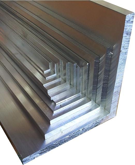 Aluwinkel 150 x 50 x 4 mm Winkelprofil ungleichschenklig Alu Winkel Aluprofil Aluminiumprofil L Profil aus Aluminium 150 cm