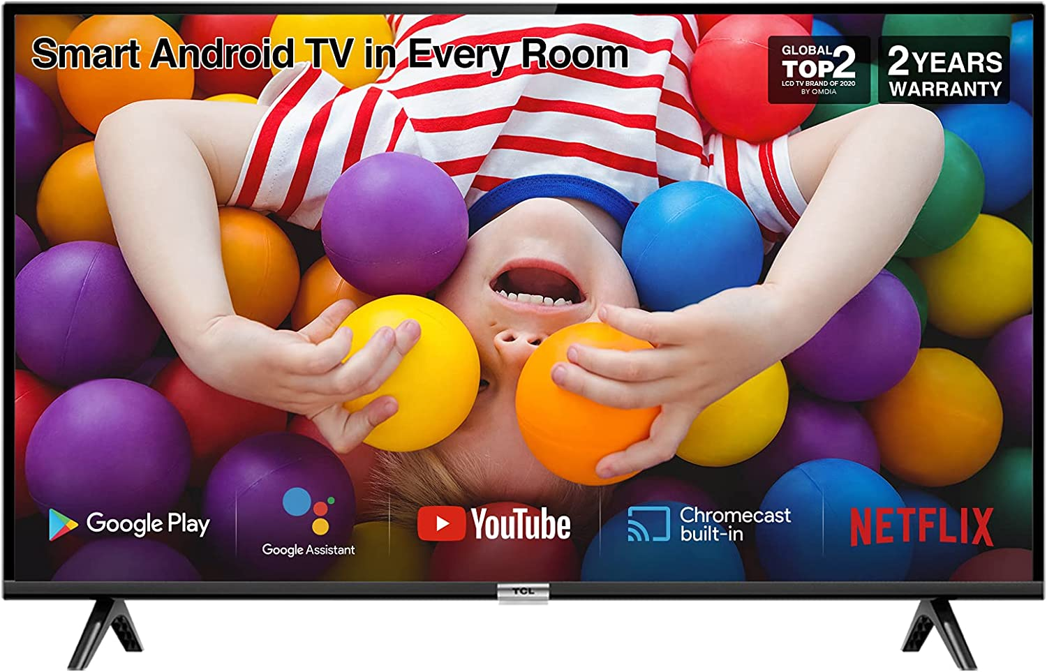 Image of TCL 32P500K 32-Inch LED Smart Android TV