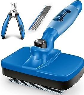 Ruff 'n Ruffus Upgrade Slicker Brush Free Pet Nail Clippers Free Combo شانه رایگان | دستگیره ژل به روز شده | نظافت برس سگ گربه به آرامی باعث کاهش ریزش می شود
