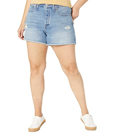 Madewell Plus Relaxed Denim Shorts in Homecrest Wash: Ripped Edition